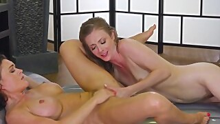 Krissy Lynn Oils Friend And Makes Squirts On Her -allgirlmassage