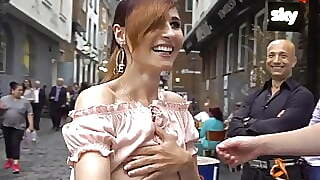 Jeny Smith Flashing Her Perfect Tits To Strangers On Street