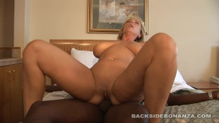 Backside Big Tit Milf Fucks Black Cock While Her Tits Bounce
