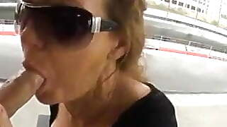 Older Woman Suck Big Dick Outdoor And Get Facial