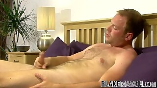 British Guy Takes Out His Huge Dick And Masturbates For Us