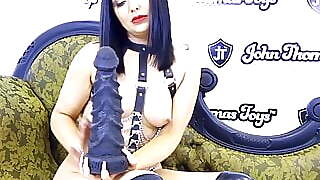 Roxee Couture Fills Her Tight Pussy With A Huge Dildo