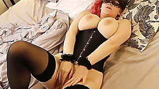 Busty Nice Lingerie Girl Gets Dick In Pussy