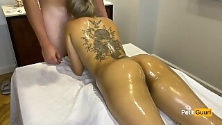 Young Japanese Yakuza Babe Gets Oil Massage Fucked And Cumshot Shower