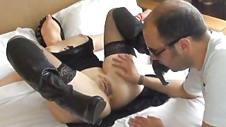 Attached Blindfolded And Fucked At The Hotel