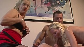 Wife With Flat Chest Has First Threesome