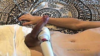 Edging Him To A Huge Cumshot With My Magic Wand