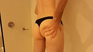 Young Fit Guy In Thong Cumming From Vibrating Bullet