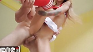 Mofos - Extra Small Cheerleader Kitty Carrera Gets Stretched Out