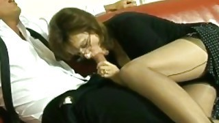 British Milf Lady Sonia Sucks A Huge Cock And Gets Covered In Cum
