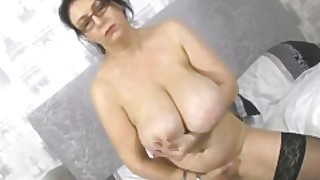 Giant Boobs Sabrina Jade Has Fun With Huge Tits And Pink Pussy