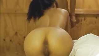 Asian Teen With Creamy Pussy Sucks Cock And Fucks In Her Swimsuit