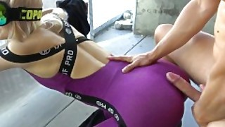 Step Brother Grinding And Cums On Yoga Pants Step Sister