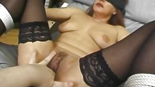 Tied And Blindfolded Mama Fucked With Facial