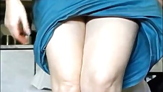 Dishy Blonde Is Fucking Herself Hard And Licking Sex Toy