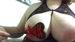Flogging My Huge Natural Tits Bbw