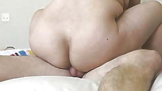 Asian Wife Bending Over Showing Pussy
