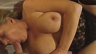 Blonde, Blowjob, Mature, Cougar, Cum In Mouth, Swallow, Homemade, Mom, Wife