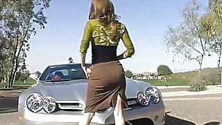 Jenny Flashing At The Golf Course