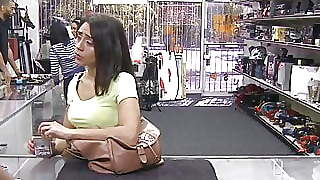 Hottie Earns Extra Cash Fucking Wildly In The Pawnshop