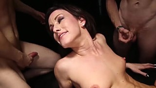 Jennifer Gets Her Holes Filled During A Gangbang