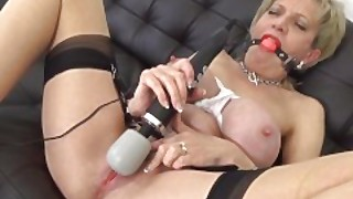 Lady Sonia Is Roped And Gagged And Makes Herself Cum