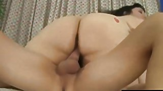 Fat Brunette Alexxxis Allure Pleases An Oafish Guy With Her Mouth And Cunt