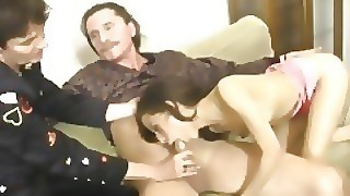 Hot Threesome Sex With Old Couple And Teen