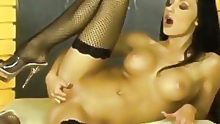 Hot Horny Milf Fucks Herself With Huge Toy