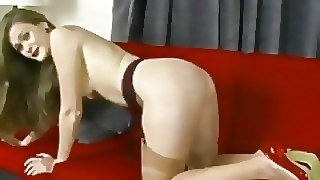 Honour May Intimate Horny Teasing Masturbating In Lingerie Heels Stockings