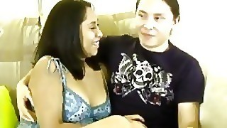 Big Tit Latina Fucked By Her Boyfriend On The Couch