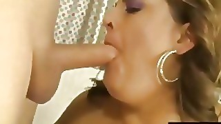 Enormous Babe Erin Green Fills Her Mouth And Pussy With A Long Dick