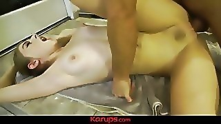 Karups - Alyce Anderson Juggles Her Step Brothers Balls In Her Pussy