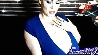 Voluptuous Vixen In Blue Dress Cam Show Archive Big Boobs