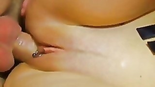 Busty Babe In Shiny Leather Love Anal