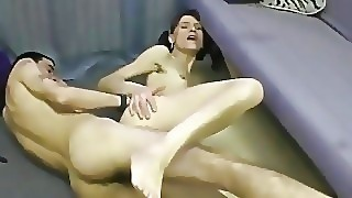 On Her Knees Sucking Before He Rams Her