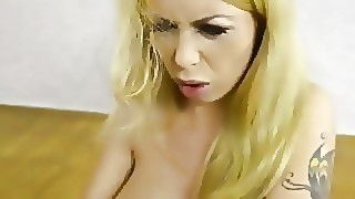 Submissive Busty Russian Babe Instucted To Ass Fist Herself