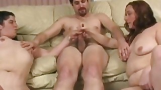 Two Bbw Strokes A White Cock