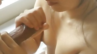 Asian Gf Gives Valentines Day Blowjob Before Work