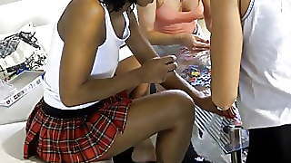 Teen (18+), Upskirt, Party, Latina