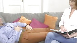 Lustygrandmas Mature Therapist Takes Patients Cum In Mouth