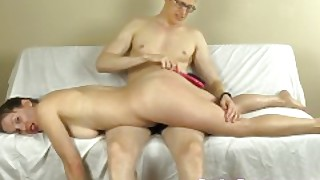 Now Me Getting My Ass Spanked With My Hairbrush And His Hands And Crop