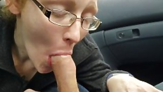 Redhead Milf Ivy Sucks And Swallows Hubbys Load In A Parked Car