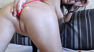 Passionate Girl Is Masturbating Her Wet Pussy With Long Fingers