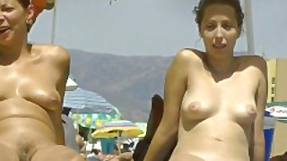 Hot Babe With Big Great Ass On The Beach
