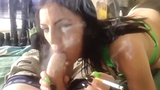 I Suck And Chain Smoke On Your Huge Cock Making You Cum For Me