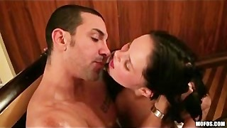 Three Busty Young Teen Sluts Girlfriends Fuck In Gangbang Party