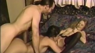 Hairy Vintage Teens Have A Steamy Threeway With A Deviant
