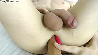 Hands Free Anal Prostate Orgasm With Soft Cock And Lots Of Cum