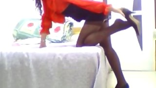 Pantyhose Girl On Webcam 1